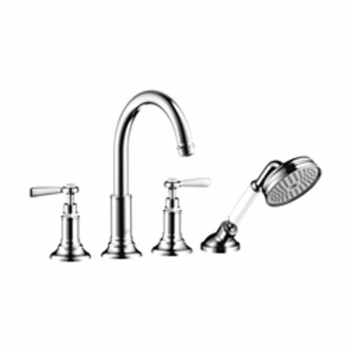Hansgrohe 16550001 Axor Montreux Roman Tub Set Trim, 5.3 gpm, Chrome Plated, 2 Handles, Hand Shower Yes/No: Yes