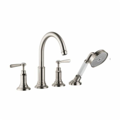 Hansgrohe 16550821 Axor Montreux Roman Tub Set Trim, 5.3 gpm, Brushed Nickel, 2 Handles, Hand Shower Yes/No: Yes
