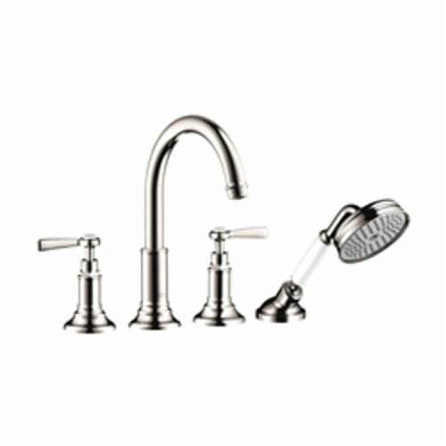 Hansgrohe 16550831 Axor Montreux Roman Tub Set Trim, 5.3 gpm, Polished Nickel, 2 Handles, Hand Shower Yes/No: Yes