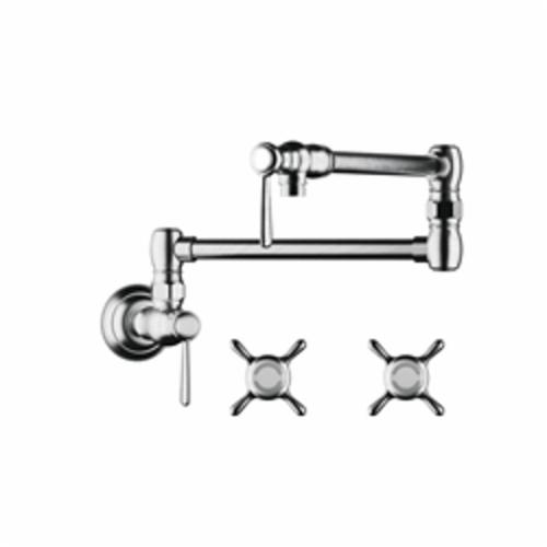 Hansgrohe 16859821 Axor Montreux Pot Filler, 2.5 gpm, 2 Handle, Brushed Nickel, Residential