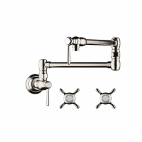 Hansgrohe 16859831 Axor Montreux Pot Filler, 2.5 gpm, Polished Nickel, 2 Handles, Commercial