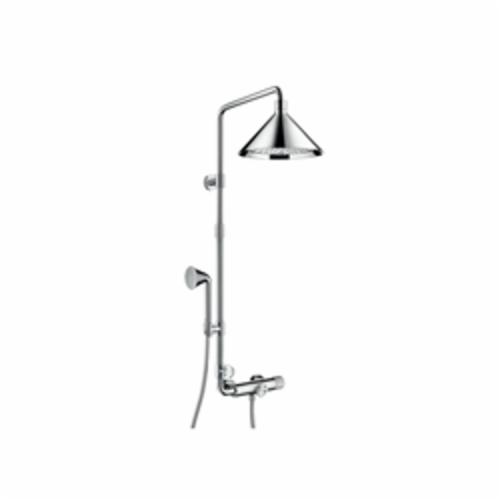 Hansgrohe 26020001 Axor Front Shower Pipe, 11 in Dia Head, 2.5 gpm, Slide Bar: No, Chrome Plated