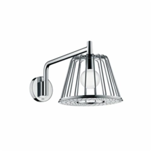 Hansgrohe 26031001 Axor 1-Jet Nendo Lamp Shower Trim, 2.5 gpm, 1 Spray, Wall Mount, 10-7/8 in Dia Head