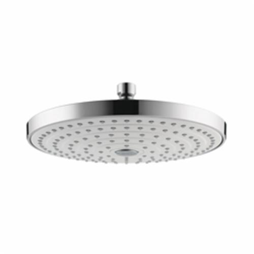 Hansgrohe 26469401 Raindance Select S 240 AIR 2-Jet Shower Head, 2.5 gpm, 2 Sprays, Wall Mount, 9-5/8 in Dia x 3-1/4 in H Head
