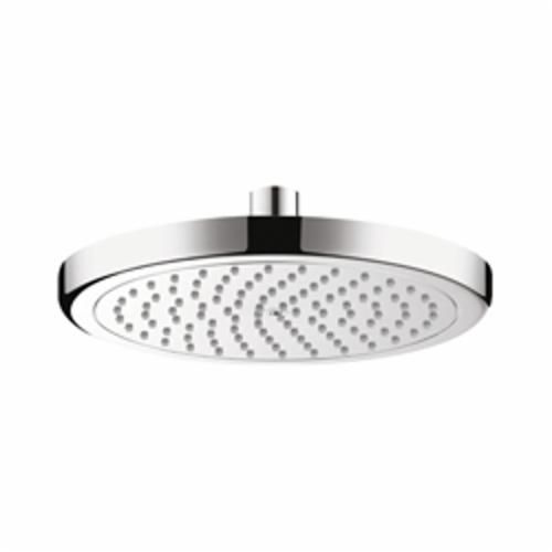 Hansgrohe 26478001 Croma 220 AIR 1-Jet Shower Head, 2 gpm, 1 Spray, Wall Mount, 8-5/8 in Dia x 2-3/8 in H Head, Import