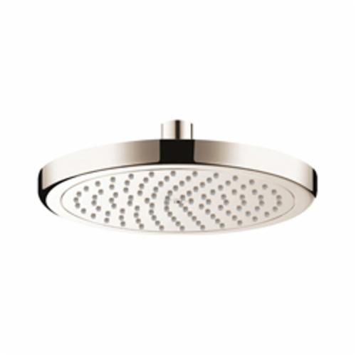 Hansgrohe 26478821 Croma 220 AIR 1-Jet Shower Head, 2 gpm, 1 Spray, Wall Mount, 8-5/8 in Dia x 2-3/8 in H Head, Import