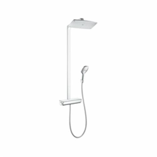 Hansgrohe 27112001 Raindance Select E 360 Shower Pipe, 1 Shower Head, 2.5 gpm, Rain Spray, Slide Bar: No, Chrome Plated, Import
