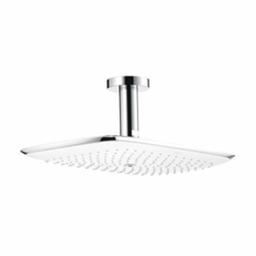 Hansgrohe 27390401 PuraVida 400 AIR 1-Jet Shower Head, 2.5 gpm, 1 Spray, Ceiling Mount, 15-5/8 in Head