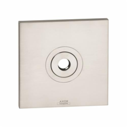 Hansgrohe 27419820 Axor Citterio Wall Plate, For Use With 27422xx1 or 27413xx1 Model Raindance Showerarm, Metal, Brushed Nickel