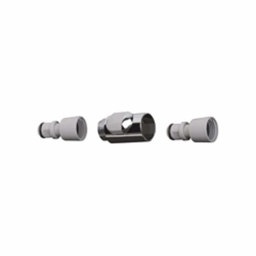 Hansgrohe 28346000 Quick Connect Snap-On Connector Set, DN15, Plastic, Chrome Plated