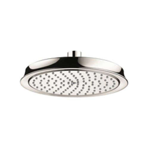 Hansgrohe 28421831 Raindance C 180 AIR 1-Jet Shower Head, 2.5 gpm, 1 Spray, Wall Mount, 8-3/8 in Dia Head