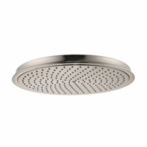 Hansgrohe 28428821 Raindance C 300 AIR 1-Jet Shower Head, 2.5 gpm, 1 Spray, Wall Mount, 13 in Dia Head