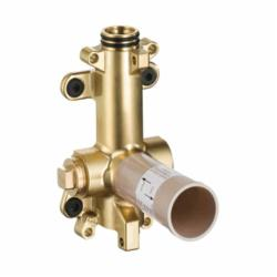 Hansgrohe 28486181 Axor Shower Rough-In Valve, 1/2 in NPT Inlet x 1/2 in NPT Outlet, Brass/Plastic Body, Import