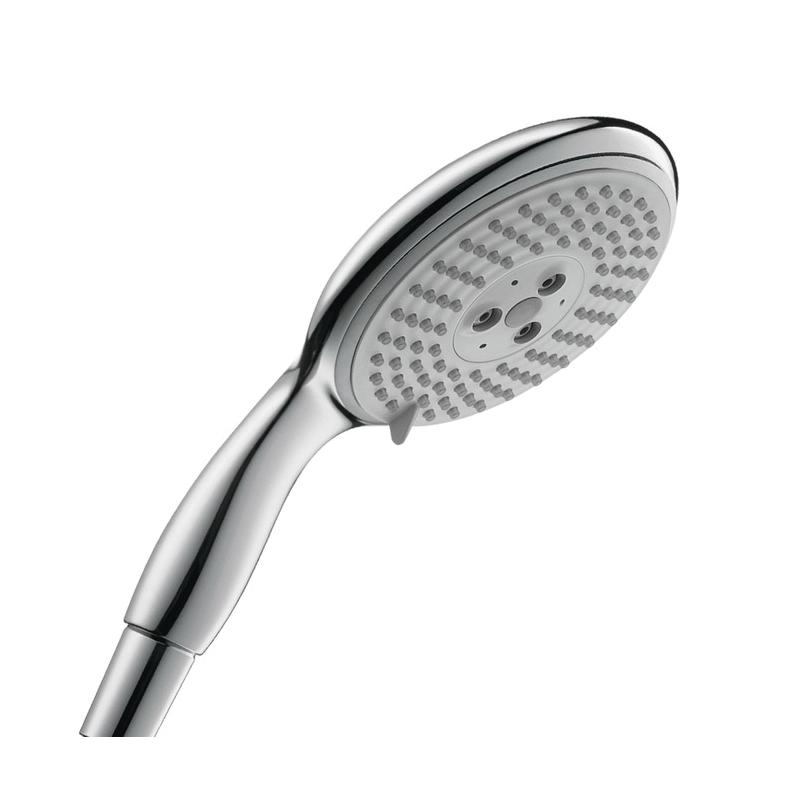 Hansgrohe 28507001 Raindance E 120 AIR 3-Jet Hand Shower, 2.5 gpm, 3 Sprays, 5-1/8 in Dia Head, 1/2 in