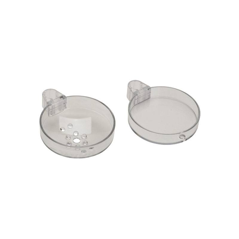 Hansgrohe 28675000 Cassetta S Double Soap Dish, 5-1/2 in D x 7/8 in and 1-3/4 in H, Plastic, Chrome Plated