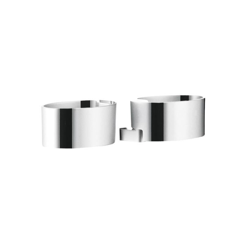 Hansgrohe 28698000 Raindance Cassetta Double Soap Dish Holder, 7-3/8 in W, Plastic, Chrome Plated