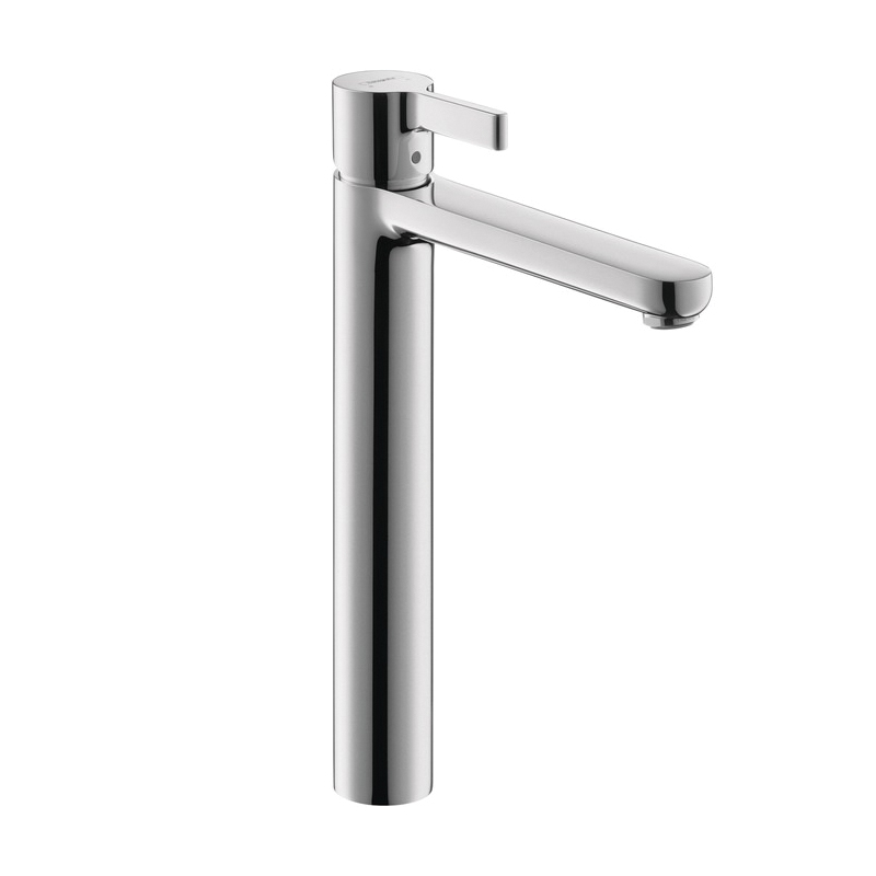 Hansgrohe 31020001 Metris S Tall Bathroom Faucet, 1.2 gpm, 9-7/8 in H Spout, 1 Handle, Pop-Up Drain, 1 Faucet Hole, Chrome Plated, Commercial
