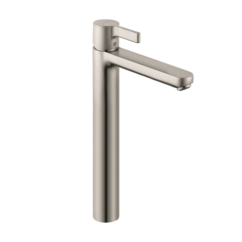 Hansgrohe 31020821 Metris S Tall Bathroom Faucet, 1.2 gpm, 9-7/8 in H Spout, 1 Handle, Pop-Up Drain, 1 Faucet Hole, Brushed Nickel, Commercial
