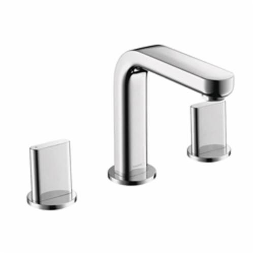 Hansgrohe 31063001 Metris S Widespread Bathroom Faucet, 1.2 gpm, 4-5/8 in H Spout, 8 in Center, Chrome Plated, 2 Handles, Pop-Up Drain, Import, Commercial