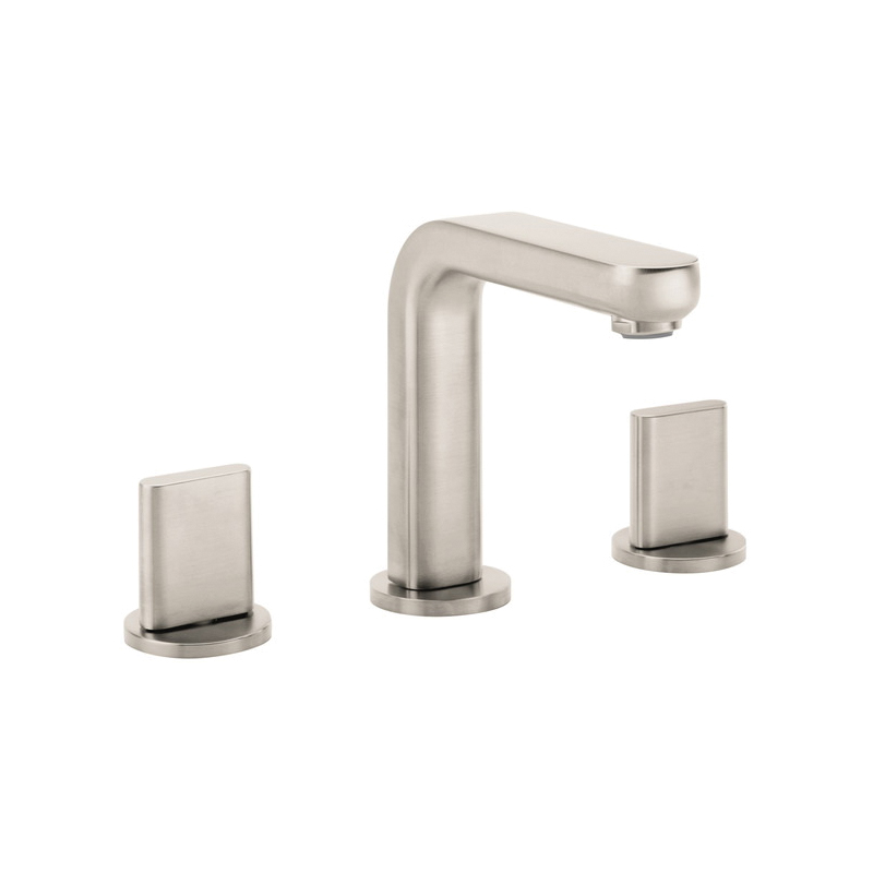 Hansgrohe 31063821 Metris S Widespread Bathroom Faucet, 1.5 gpm, 4-5/8 in H Spout, 8 in Center, Brushed Nickel, 2 Handles, Pop-Up Drain, Import, Commercial