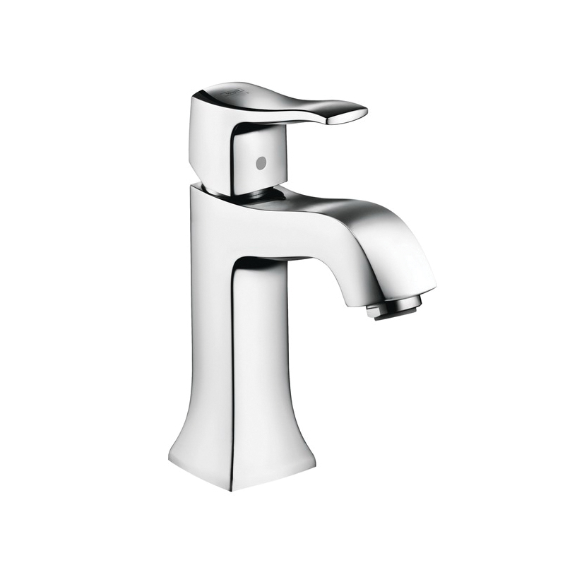 Hansgrohe 31077001 Metris C Bathroom Faucet Without Pop-Up, 1.2 gpm, 3-7/8 in H Spout, 1 Handle, 1 Faucet Hole, Chrome Plated, Commercial