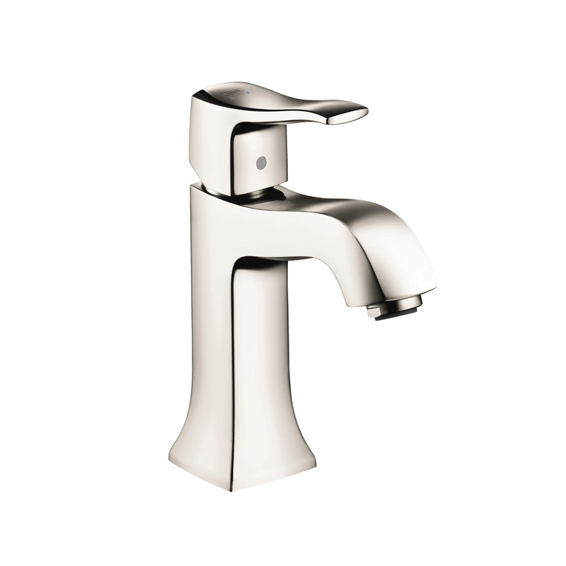 Hansgrohe 31077831 Metris C Bathroom Faucet Without Pop-Up, 1.2 gpm, 3-7/8 in H Spout, 1 Handle, 1 Faucet Hole, Polished Nickel, Commercial