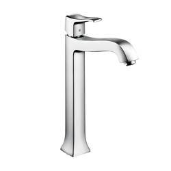 Hansgrohe 31078001 Metris C Tall Bathroom Faucet, 1.2 gpm, 9-3/4 in H Spout, 1 Handle, Pop-Up Drain, 1 Faucet Hole, Chrome Plated, Commercial