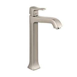 Hansgrohe 31078821 Metris C Tall Bathroom Faucet, 1.2 gpm, 9-3/4 in H Spout, 1 Handle, Pop-Up Drain, 1 Faucet Hole, Brushed Nickel, Commercial