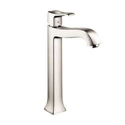 Hansgrohe 31078831 Metris C Tall Bathroom Faucet, 1.2 gpm, 9-3/4 in H Spout, 1 Handle, Pop-Up Drain, 1 Faucet Hole, Polished Nickel, Commercial