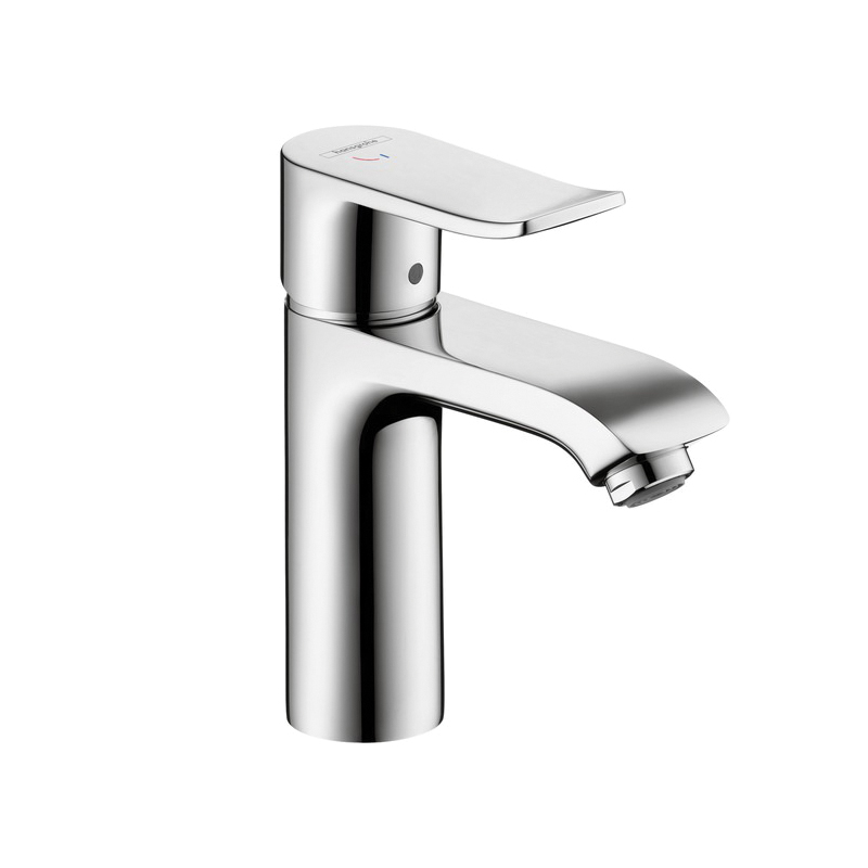 Hansgrohe 31121001 Metris 110 Bathroom Faucet, 1.2 gpm, 3-7/8 in H Spout, 1 Handle, 1 Faucet Hole, Chrome Plated, Commercial