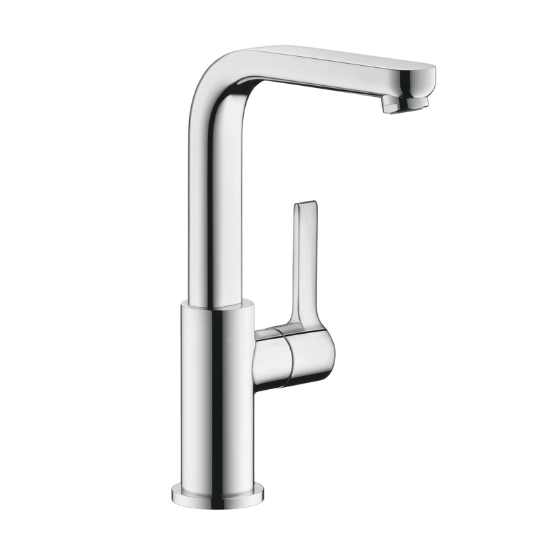 Hansgrohe 31161001 Metris S Tall Bathroom Faucet, 1.2 gpm, 8-7/8 in H Spout, 1 Handle, Pop-Up Drain, 1 Faucet Hole, Chrome Plated, Commercial