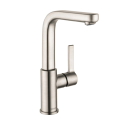 Hansgrohe 31161821 Metris S Tall Bathroom Faucet, 1.2 gpm, 8-7/8 in H Spout, 1 Handle, Pop-Up Drain, 1 Faucet Hole, Brushed Nickel, Commercial