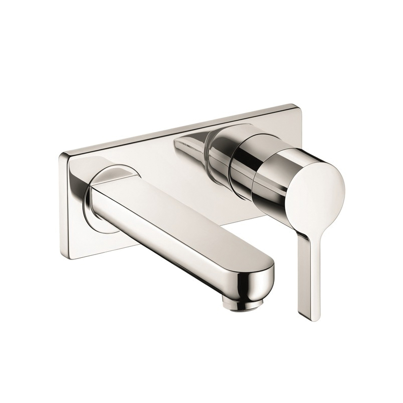 Hansgrohe 31163821 Metris S Bathroom Faucet Trim, 1.2 gpm, 4 in Center, 1 Handle, Brushed Nickel, Import, Commercial