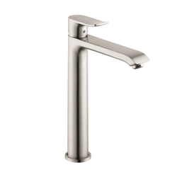 Hansgrohe 31183821 Metris 200 Bathroom Faucet, 1.5 gpm, 7-5/8 in H Spout, 1 Handle, Pop-Up Drain, 1 Faucet Hole, Brushed Nickel, Import, Commercial