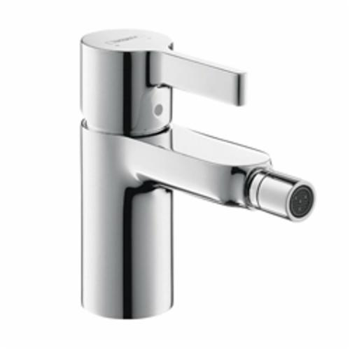 Hansgrohe 31261001 Metris S Bidet Faucet, 2.2 gpm, 3-1/4 in H Spout, 1 Handle, Pop-Up Drain, Chrome Plated, Import
