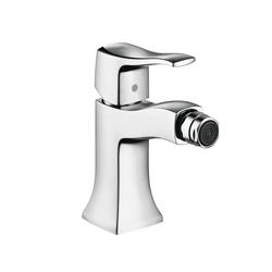 Hansgrohe 31275001 Metris C Bidet Faucet, 1.5 gpm, 4 in H Spout, 1 Handle, Pop-Up Drain, Chrome Plated