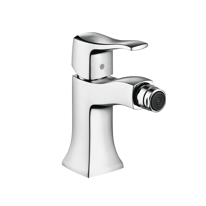 Hansgrohe 31275001 Metris C Bidet Faucet, 1.5 gpm, 4 in H Spout, 1 Handle, Pop-Up Drain, Chrome Plated