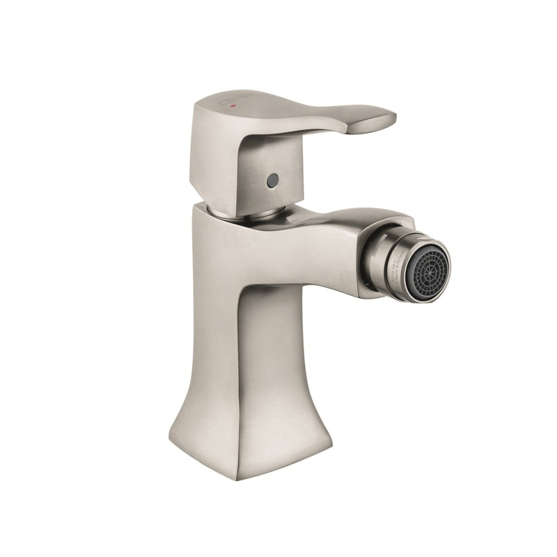 Hansgrohe 31275821 Metris C Bidet Faucet, 1.5 gpm, 4 in H Spout, 1 Handle, Pop-Up Drain, Brushed Nickel