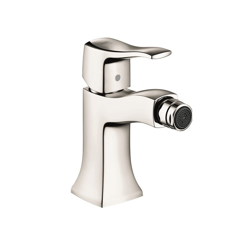 Hansgrohe 31275831 Metris C Bidet Faucet, 1.5 gpm, 4 in H Spout, 1 Handle, Pop-Up Drain, Polished Nickel