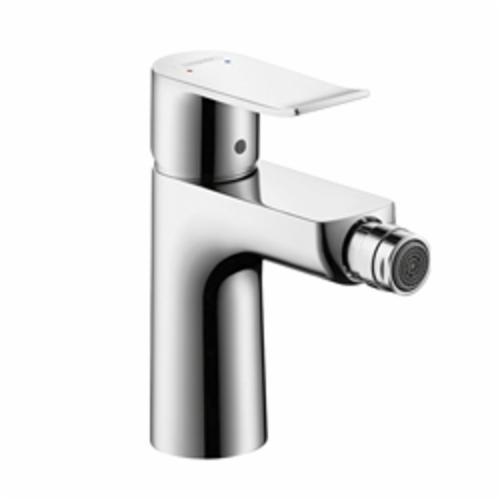 Hansgrohe 31280001 Metris E Bidet Faucet, 2.2 gpm, 4-3/8 in H Spout, 1 Handle, Pop-Up Drain, Chrome Plated, Import
