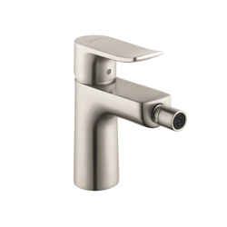Hansgrohe 31280821 Metris E Bidet Faucet, 1.5 gpm, 4-3/8 in H Spout, 1 Handle, Pop-Up Drain, Brushed Nickel, Import