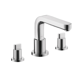 Hansgrohe 31436001 Metris S Roman Tub Set Trim, 5.8 gpm, 8-5/8 in Center, Chrome Plated, 2 Handles, Hand Shower Yes/No: No