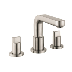 Hansgrohe 31436821 Metris S Roman Tub Set Trim, 5.8 gpm, 8-5/8 in Center, Brushed Nickel, 2 Handles, Hand Shower Yes/No: No