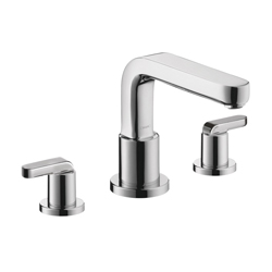 Hansgrohe 31438001 Metris S Roman Tub Set Trim, 5.8 gpm, 8-5/8 in Center, Chrome Plated, 2 Handles, Hand Shower Yes/No: No