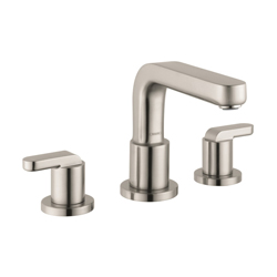 Hansgrohe 31438821 Metris S Roman Tub Set Trim, 5.8 gpm, 8-5/8 in Center, Brushed Nickel, 2 Handles, Hand Shower Yes/No: No