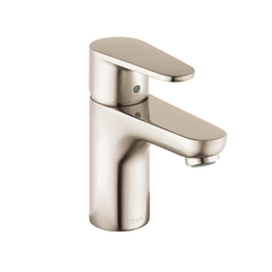 Hansgrohe 31612821 Talis E Bathroom Faucet, 1.2 gpm, 3 in H Spout, 1 Handle, Pop-Up Drain, 1 Faucet Hole, Brushed Nickel, Domestic