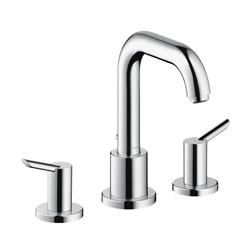 Hansgrohe 31732001 Focus S Roman Tub Set Trim, 5.8 gpm, 8-5/8 in Center, Chrome Plated, 2 Handles, Hand Shower Yes/No: No