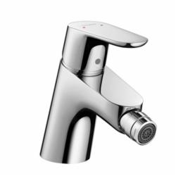Hansgrohe 31920001 Focus E Bidet Faucet, 2.2 gpm, 2-1/8 in H Spout, 1 Handle, Pop-Up Drain, Chrome Plated, Import
