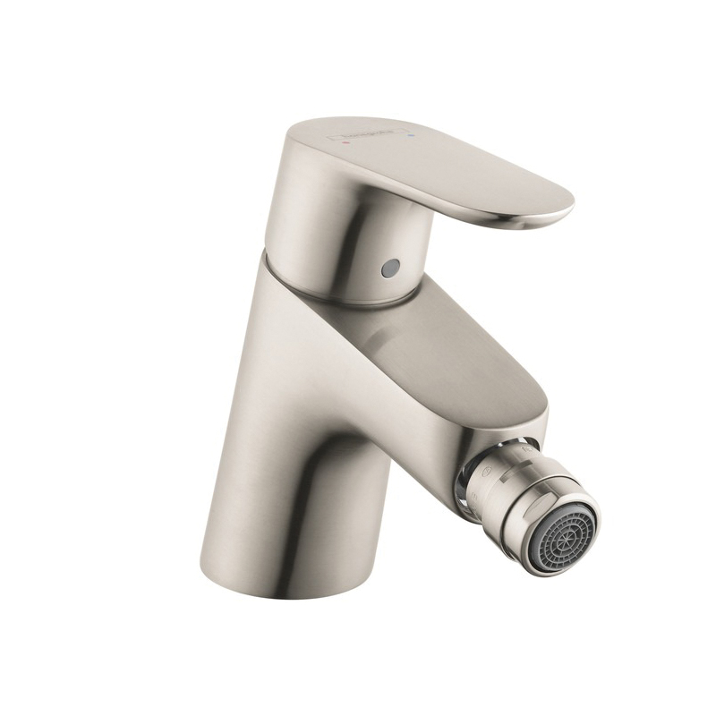 Hansgrohe 31920821 Focus E Bidet Faucet, 1.5 gpm, 2-1/8 in H Spout, 1 Handle, Pop-Up Drain, Brushed Nickel, Import