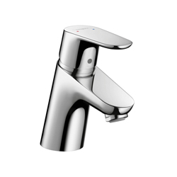 Hansgrohe 31952001 Focus E 70 Bathroom Faucet, 1 gpm, 2-1/8 in H Spout, 1 Handle, 1 Faucet Hole, Chrome Plated